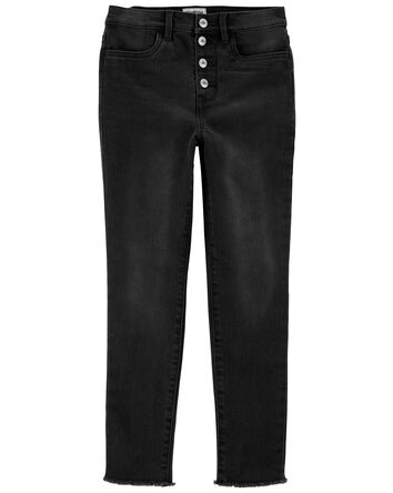 Snap-Fly Jeggings in Washed Black