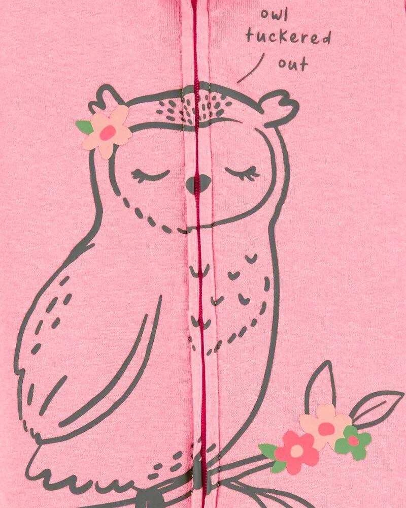 1-Piece Owl 100% Snug Fit Cotton Footie PJs, , hi-res