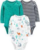 3-Pack Certified Organic Cotton Original Bodysuits, , hi-res