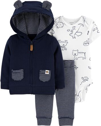 3-Piece Animals Little Jacket Set