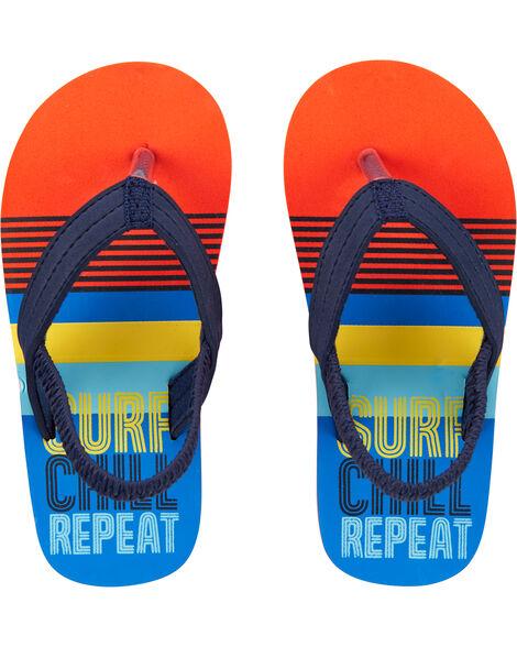 Sandales de plage à rayures multiples
