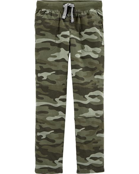 Camo Pull-On Reinforced Knee Pants