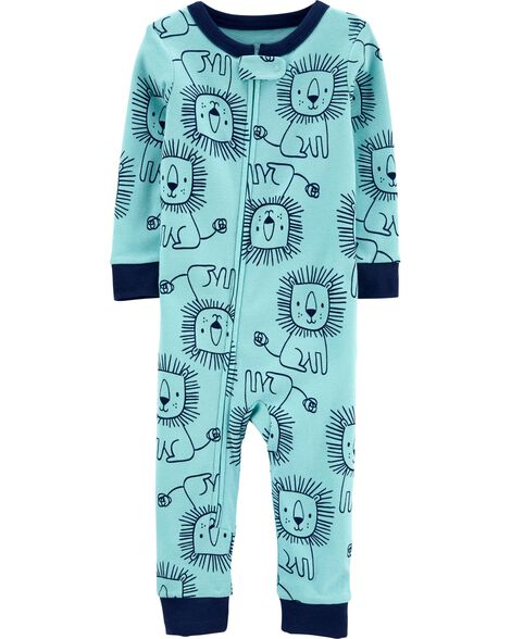 1-Piece Lion Snug Fit Cotton Footless PJs