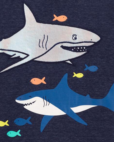 T-shirt en jersey chiné requin