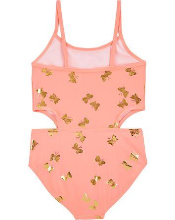 Maillot de bain à papillons dorés