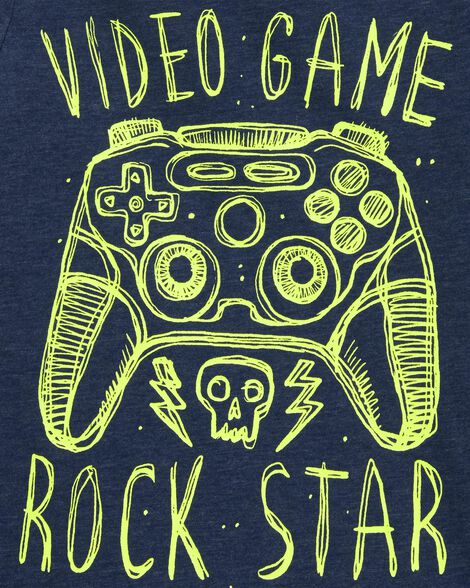 Video Game Rock Star Graphic Tee