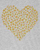 T-shirt en jersey à cœur lépopard, , hi-res