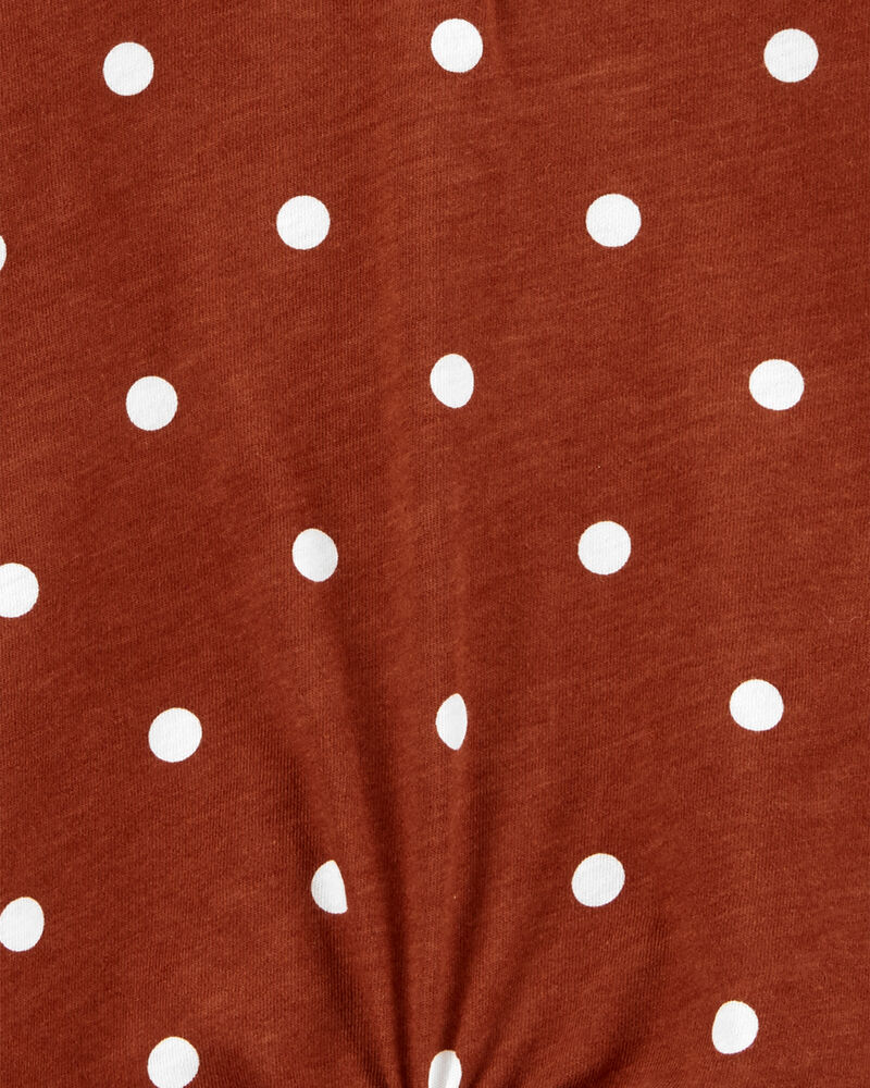 Polka Dot Tie-Front Top, , hi-res