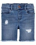 Rip-&-Repair Skimmer Shorts in Blue Lagoon Wash, , hi-res