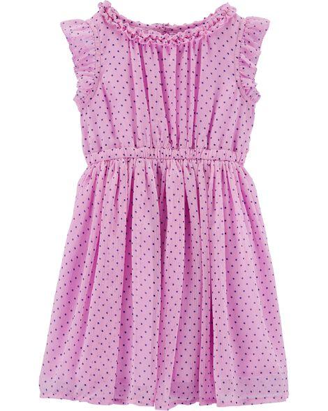 Chiffon Dot Print Dress