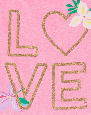 Glitter Love Peplum Top