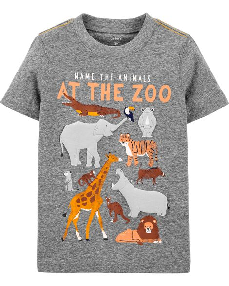 Zoo Animals Snow Yarn Jersey Tee