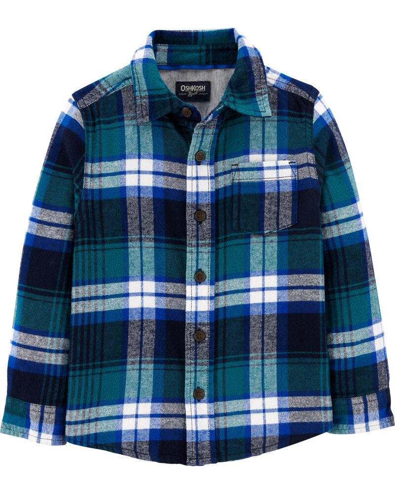 Plaid Flannel Shirt, , hi-res