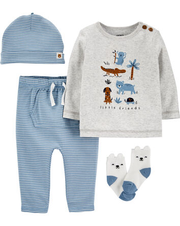 4-Piece Animal Take-Me-Home Set