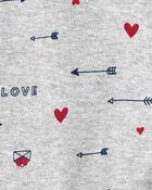 Grenouillère en coton pour dormir et jouer avec glissière 2 sens pour la Saint-Valentin, , hi-res