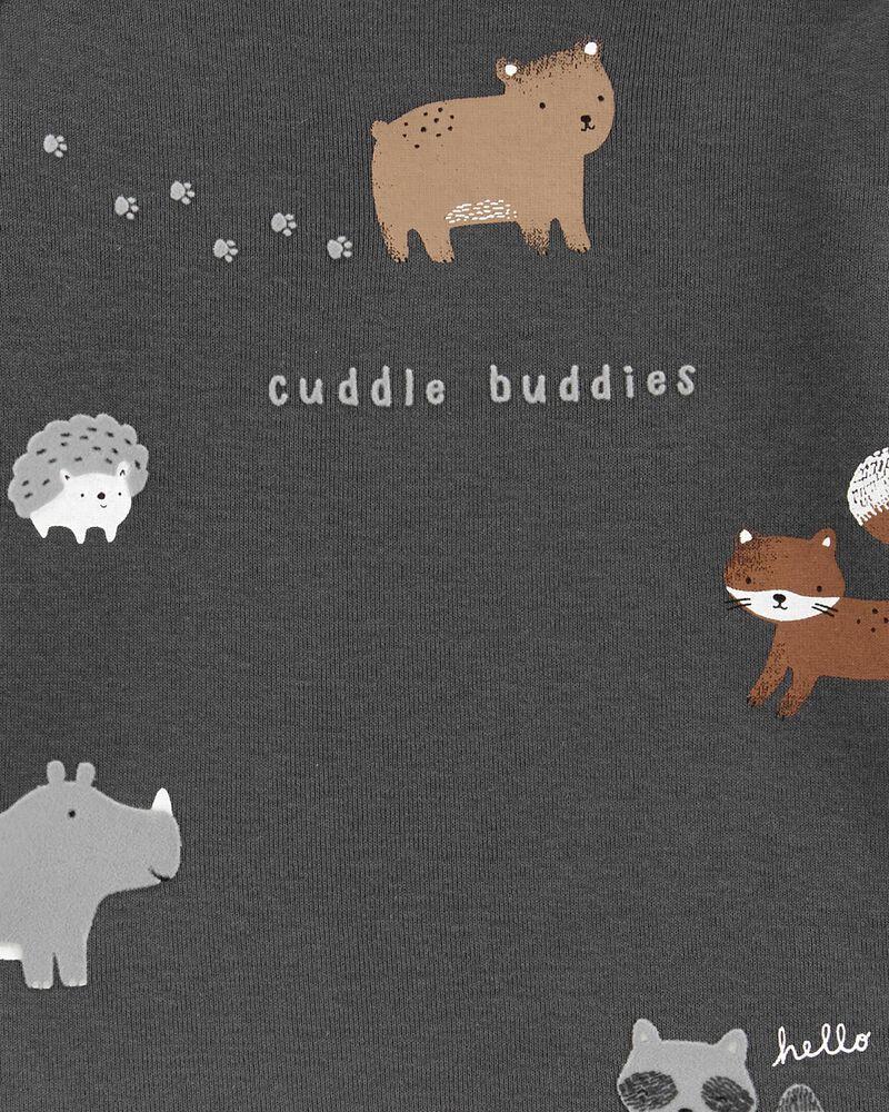 Ensemble 3 pièces t-shirt et pantalon à imprimé animalier, , hi-res