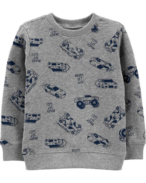 Cars Slub French Terry Sweatshirt