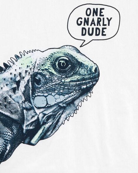 T-shirt en jersey à iguane