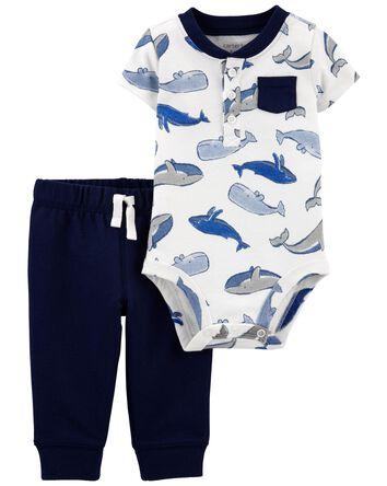 2-Piece Whale Bodysuit Pant Set