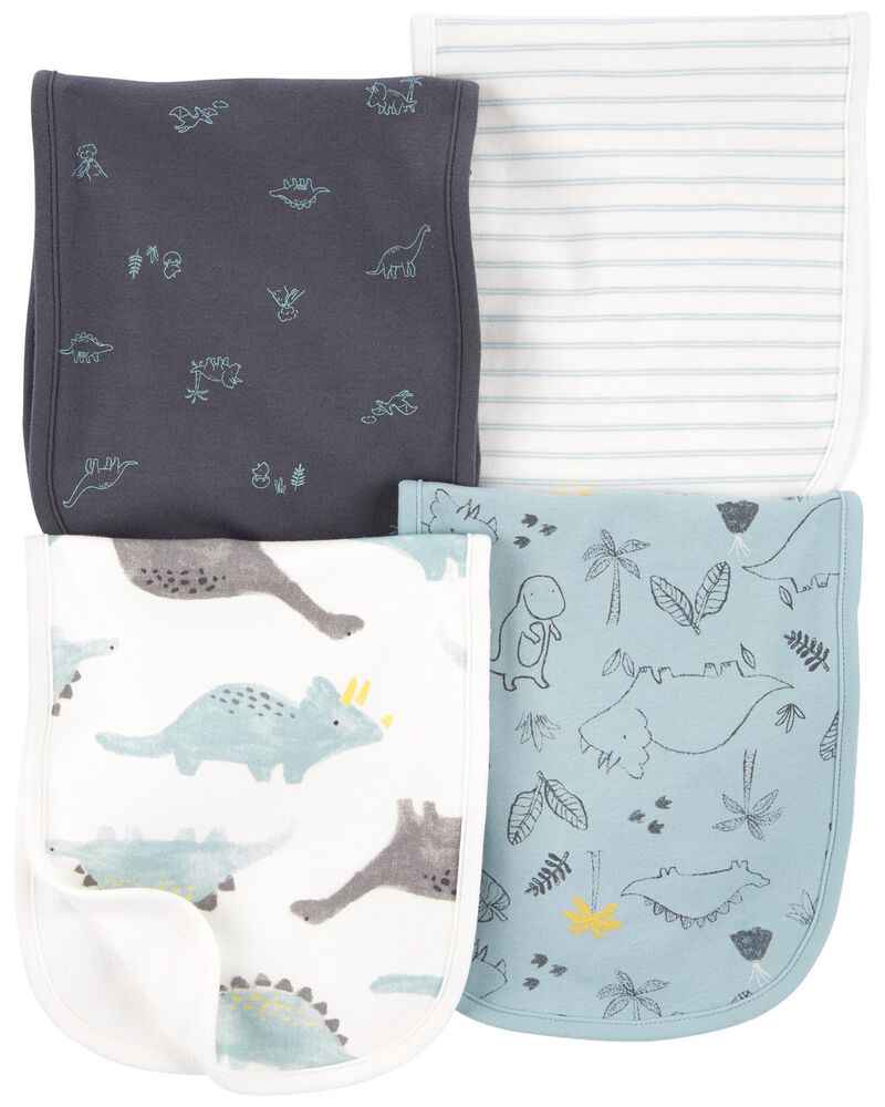 Emballage de 4 serviettes pour le rot à dinosaure, , hi-res