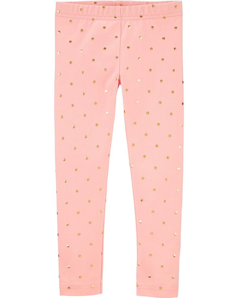 Polka Dot Jersey Leggings, , hi-res