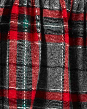 2-Piece Plaid Flannel Top & Pant Se...