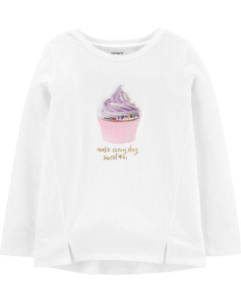 Haut en jersey à petit gâteau interactif