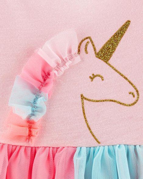 Robe en jersey avec tutu et licornes