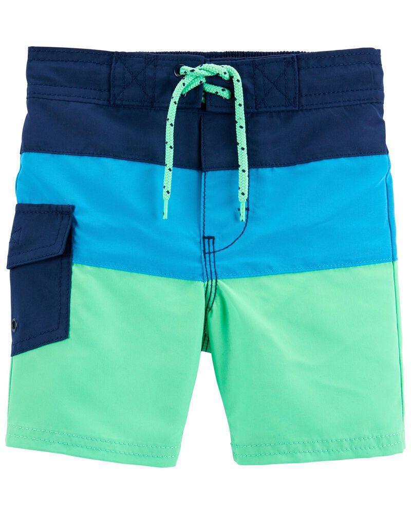 Colourblock Swim Trunks, , hi-res