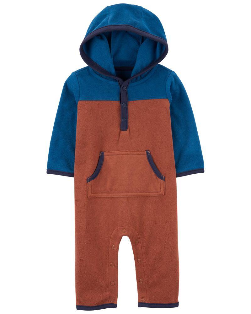 Hooded Fleece Jumpsuit, , hi-res