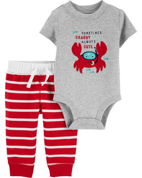 Ensemble cache-couche crabe et pantalon