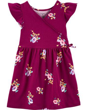 Robe fleurie de style cache-cœur