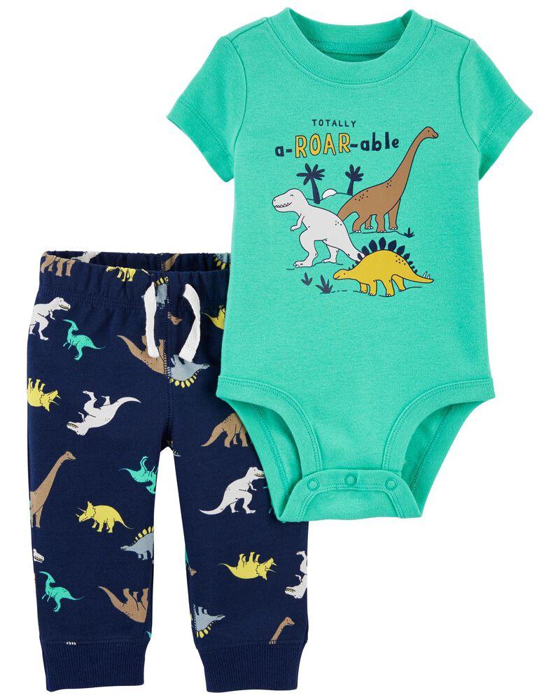 2-Piece Dinosaur Bodysuit Pant Set, , hi-res