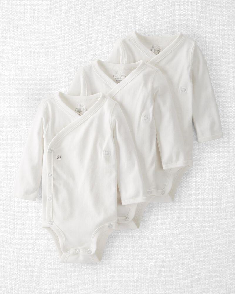 Emballage de 3 cache-couches kimono en coton côtelé certifié biologique , , hi-res
