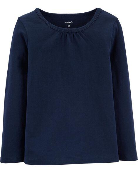 T-shirt en coton marine