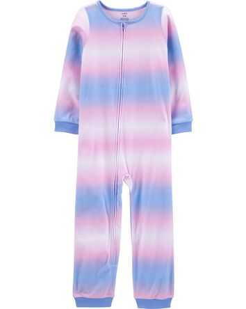 1-Piece Tie-Dye Fleece Footless PJs