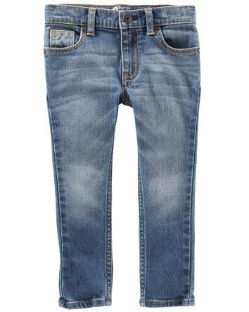 Jeans fuseau - délavage indigo vif