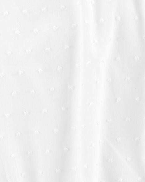 Cache-couche à manches volantées en tissu façonné