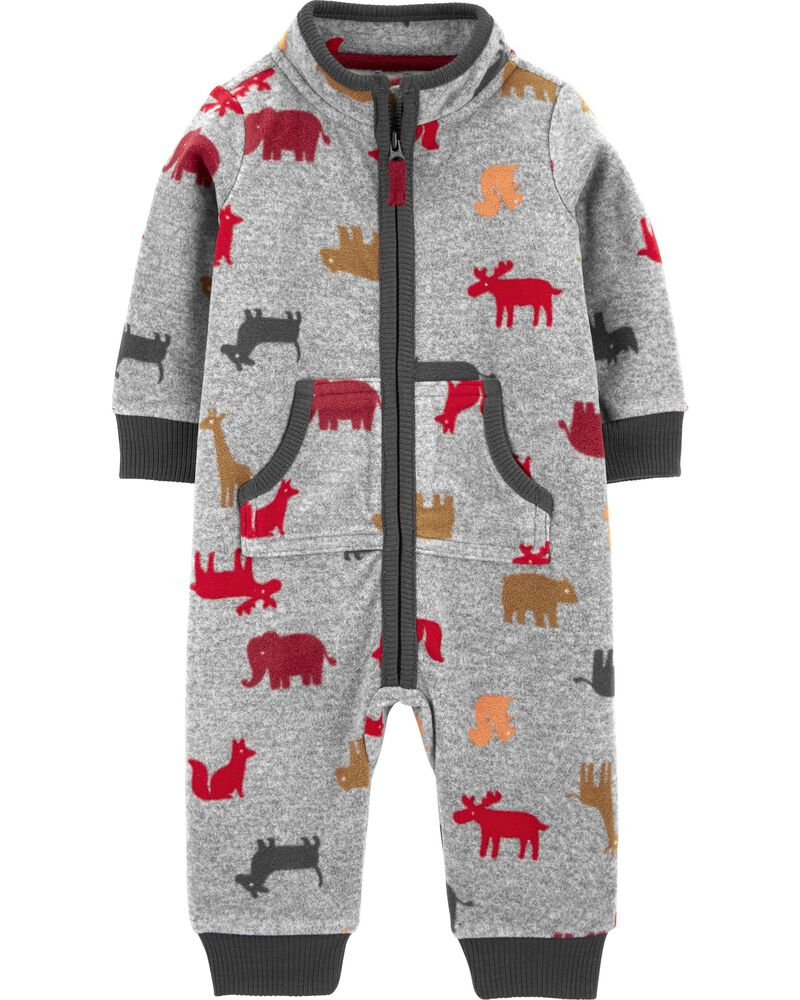 Bear French Terry Jumpsuit, , hi-res