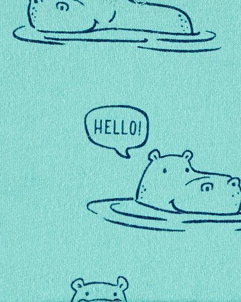 Barboteuse en jersey hippopotame