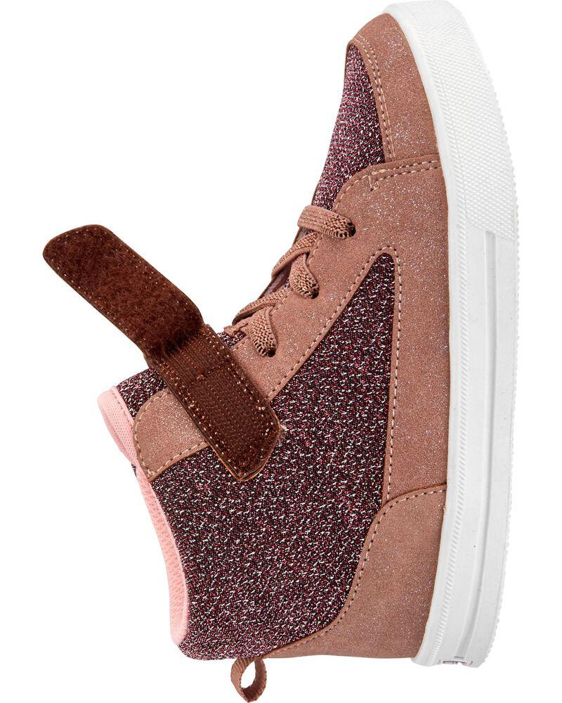 Chaussures de coupe haute scintillantes, , hi-res