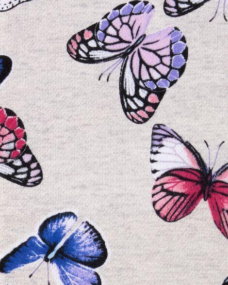 Butterfly Zip-Up Fleece Jacket