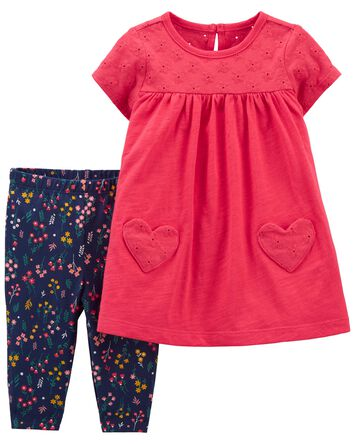2-Piece Jersey Dress & Legging Set