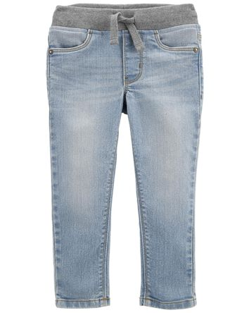 Tapered Relaxed Pull-on Jeans in Su...