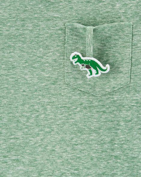 Interactive T-Rex Layered-Look Snow Yarn Tee