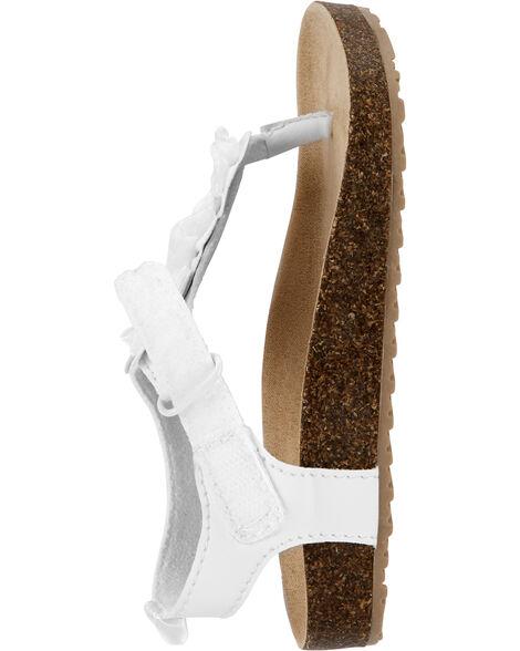 Sandales en liège à nœud