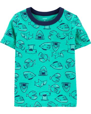 Fish Pocket Slub Tee