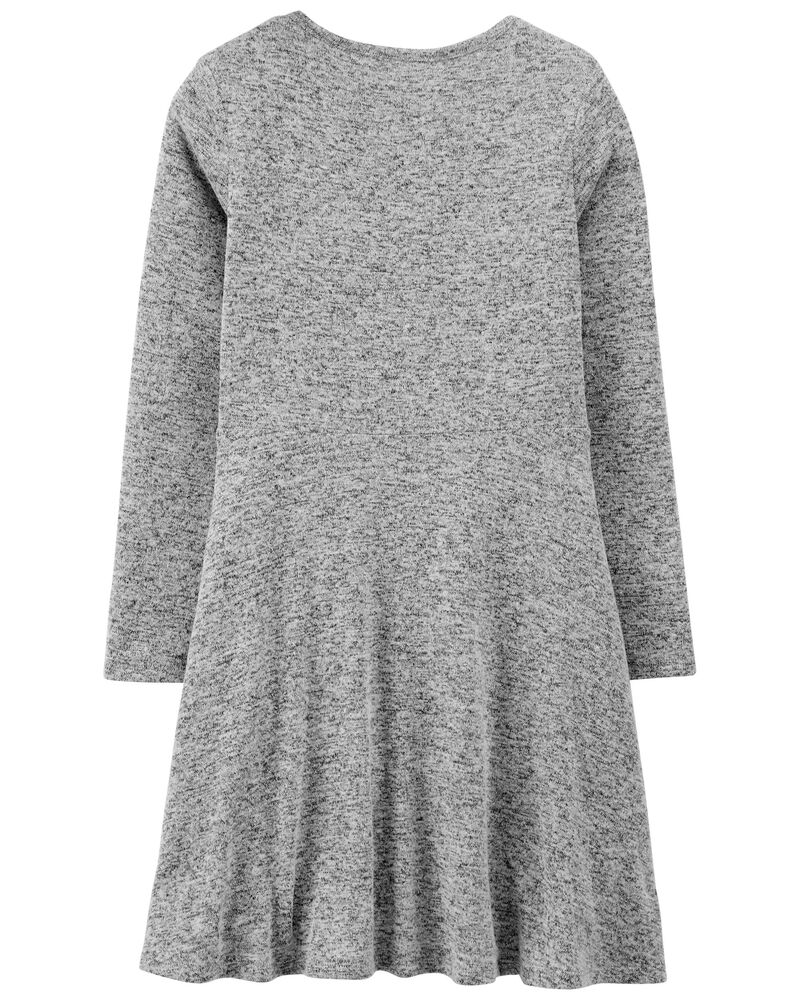 Embroidered Cozy Dress, , hi-res