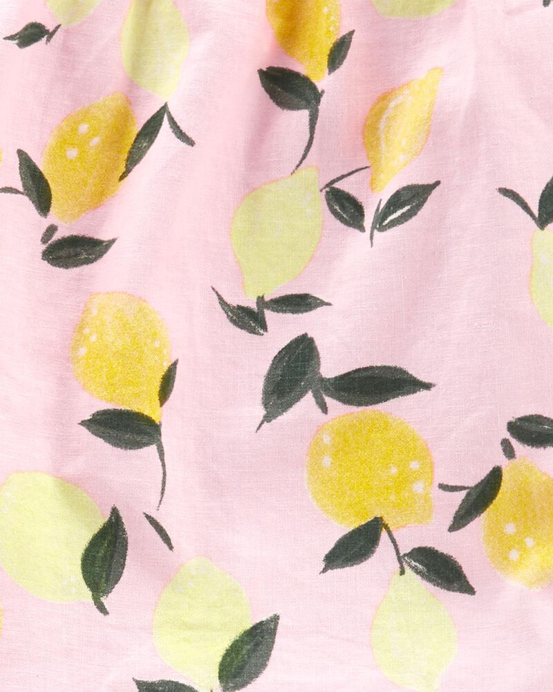 2-Piece Lemon Linen Tank & Slub Jersey Shorts, , hi-res