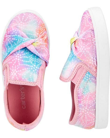 Rainbow Tie Front Slip-On Shoes